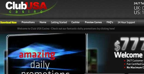 Club USA Casino at a Glance for Internet Players
